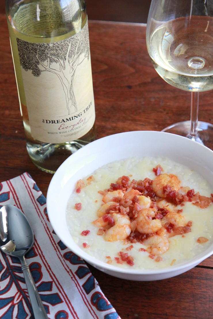 Shrimp and Grits with Tomatoes and Bacon - A Southern Mother